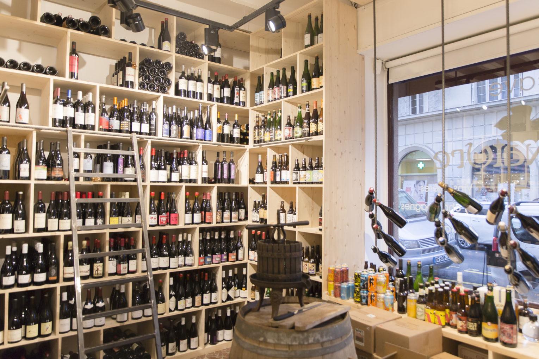 caviste vins nature intérieur