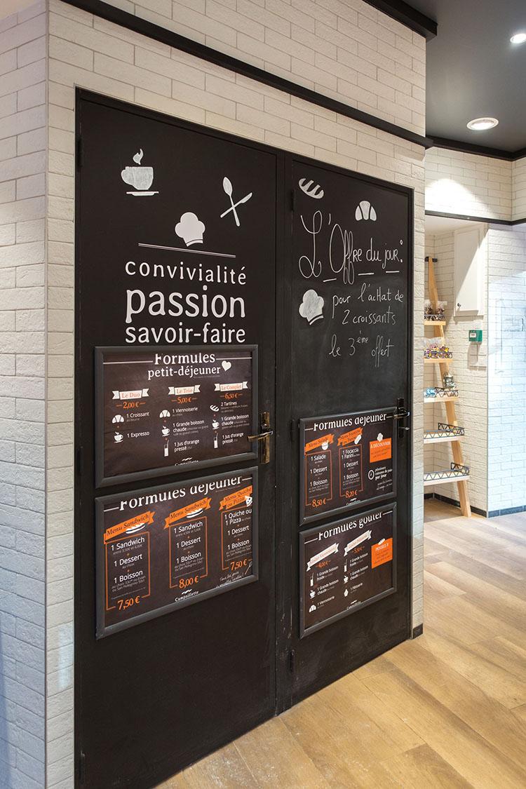 Boulangerie Campaillette Roperh menu board