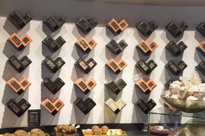 mur tablettes chocolat