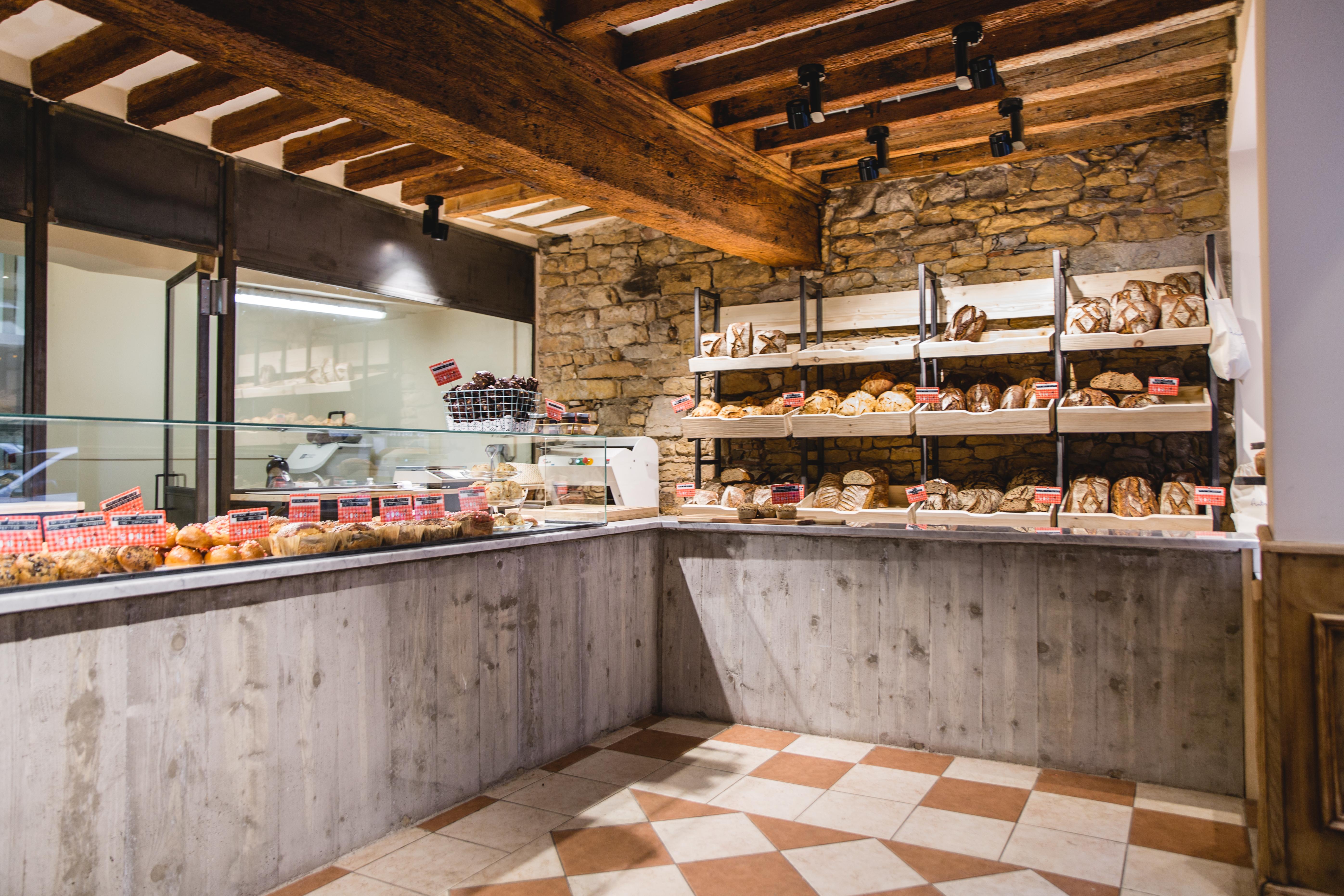 Agencement boulangerie Antoinette comptoir