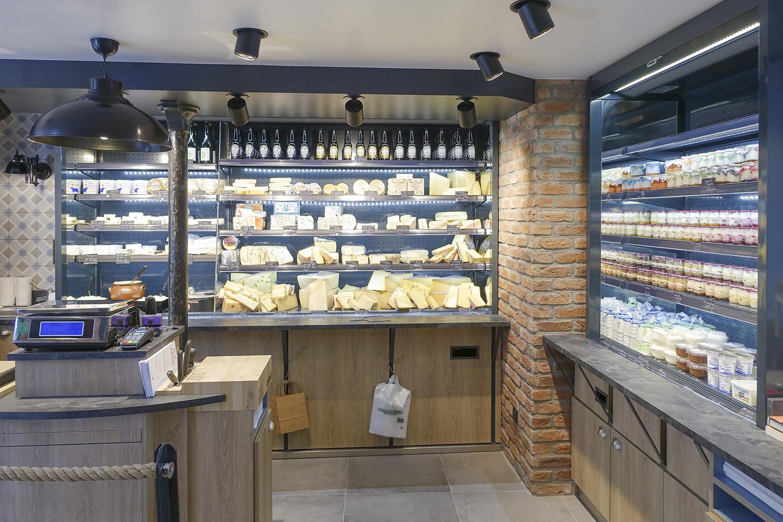 agencement intérieur fromage paris