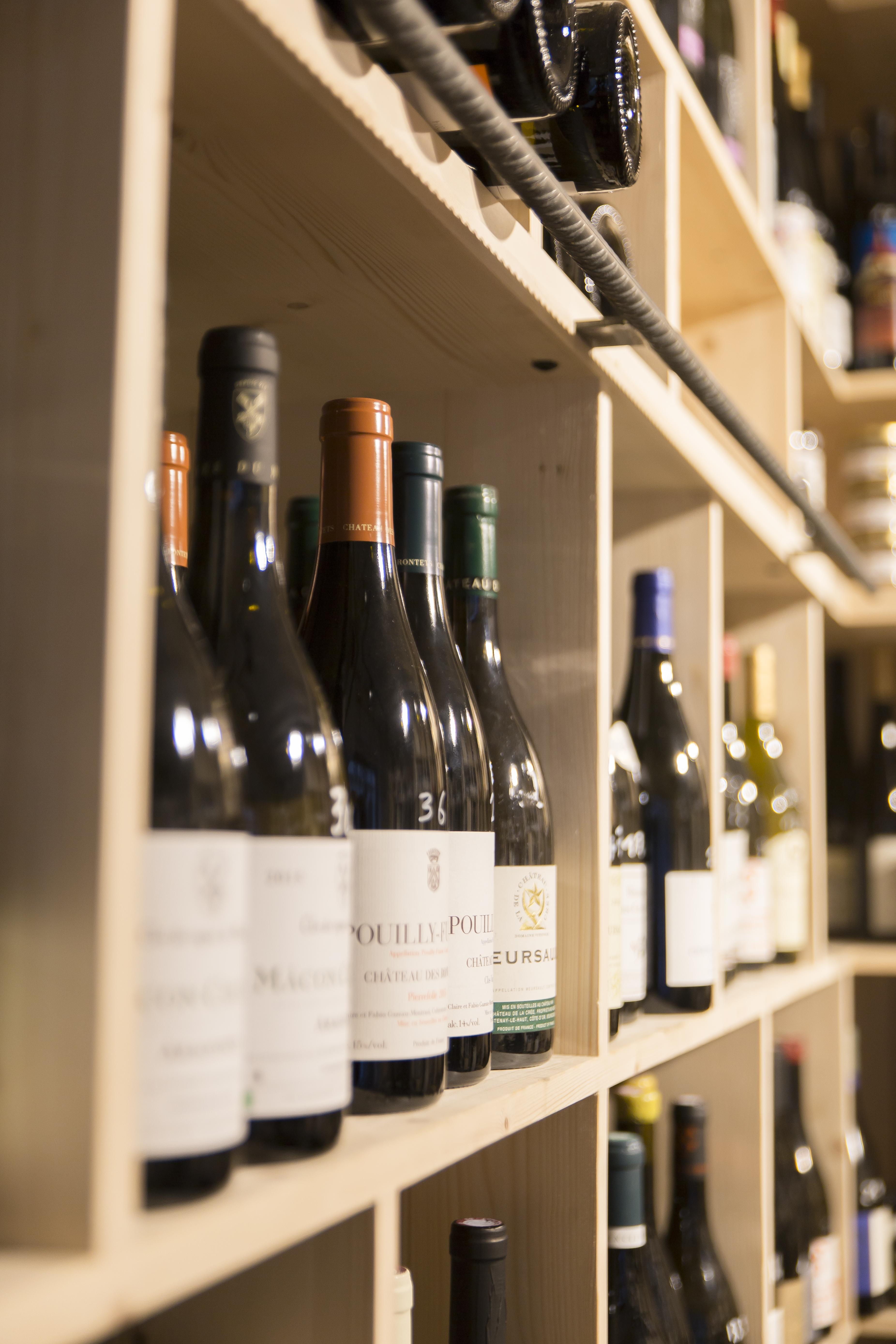 caviste vins nature rangement